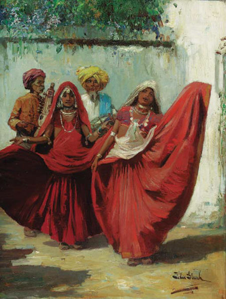 453px-John_Gleich_-_Two_Indian_Nauch_girls_with_musicians