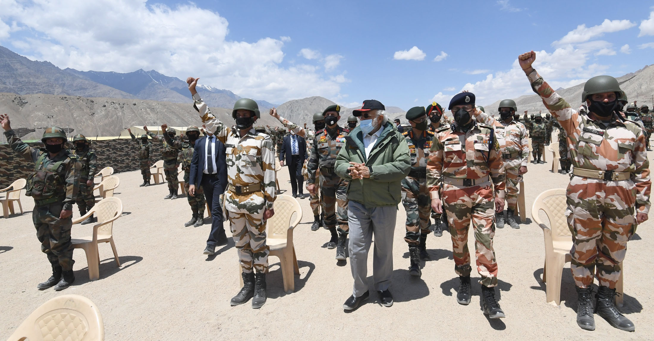 Prime Minister Narendra Modi visits Nimu in Ladakh to interact with Indian troops